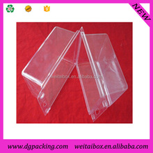 Clamshell shaped clear PVC plastic packaging box for phone case&transparent container