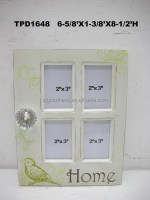4 MULTI PHOTO FRAME WALL ANTIQUE WHITE PICTURE HOME SHABBY CHIC GIFT