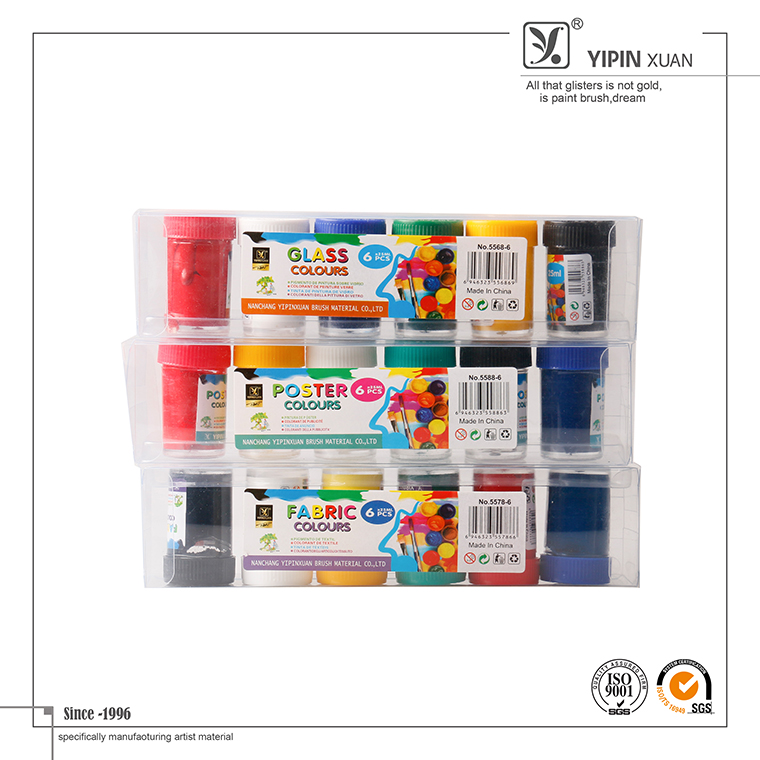 6 colors 25ml High Quality Art Supplies Non-toxic Fabric Paint