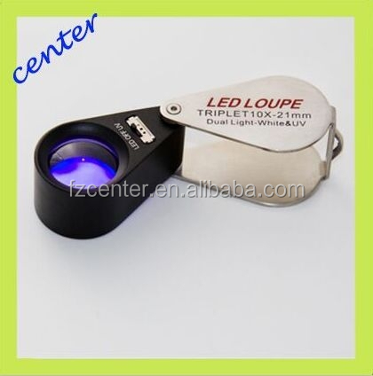 simple and easy magnify 10x diamond loupes diameter 21mm LED single light