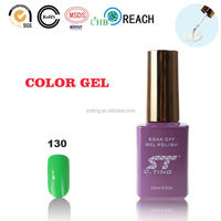 Wholesale Price for soak off nail uv gel nail polish with MSDS in light green shinny color