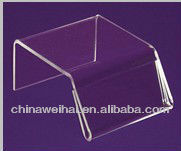 Yiwu Solid crystal clear Acrylic Sign Holder Risers