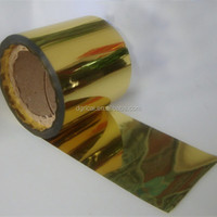 PET Gold Metallized Film, Packing Film For Decoration And Protection
