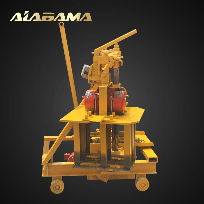 small mini QT40-3c concrete hollow block machine in philippines
