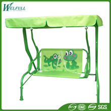 Outdoor Indoor Two Seat Metal Tube Children Swing