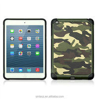 High quality Camouflage leather phone case for iPad Mini 1 , 2 , 3 , hard pc mobile case shell for iPad Mini 4 case