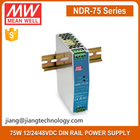 75W 12V Switching Power Supply Meanwell Single Output Industrial DIN RAIL Power Supply NDR-75-12