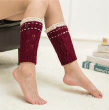 Women's Pairs Knitted Leg Warmer Boot Topper Cuffs