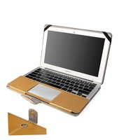 Elegant PU Leather Laptop Cover Skin Gold Waterproof Laptop Case for Macbook Air 13.3 Inch