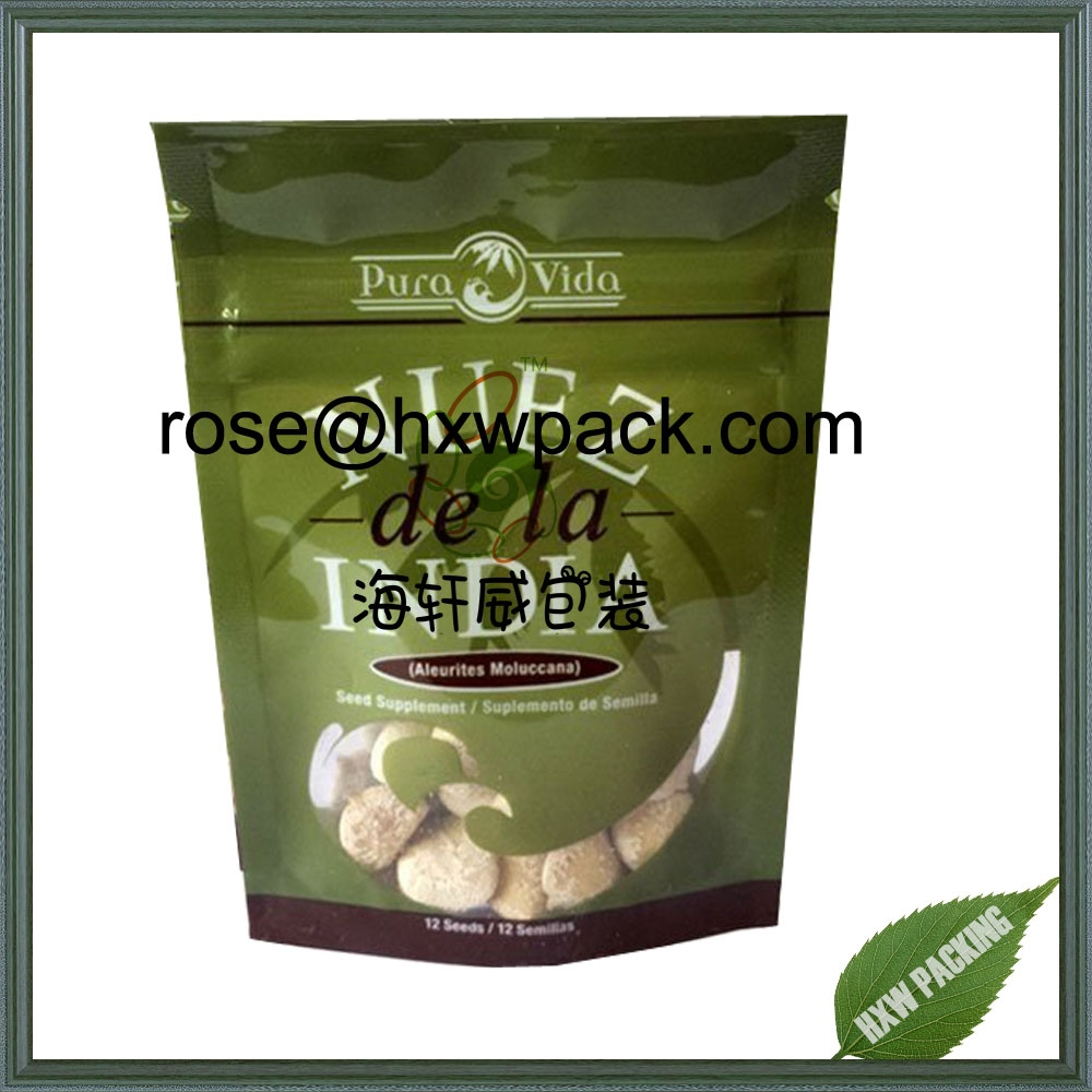 High quality multilayer compound plastic dried food bags for nuts/dried fruits products packaging bag