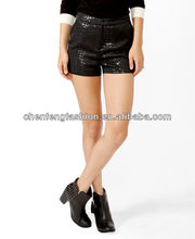 Embossed Metallic-Blend Shorts CSS0016
