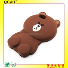 wholesale mobile accessories silicone phone case for 6 plus bear animal,free sample phone case