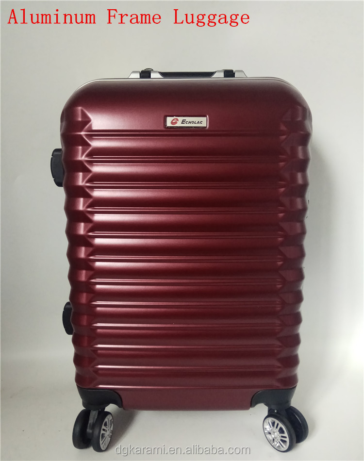 New strong aluminum frame PC ABS plastic Suitcases