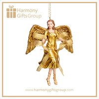 Christmas Home Decoration Gold Angel Gift Craft