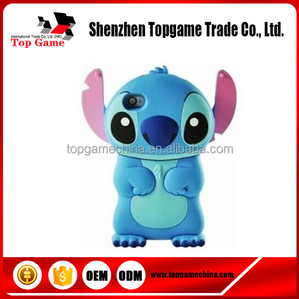 3D Cartoon Stitch Soft Silicone Case Cover for iPhone 4 4G 4S