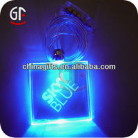 Hot Selling 2014 Colorful Led Glow In Dark Necklace