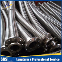 High temperature annular corrugated flexible metal hose assemblies