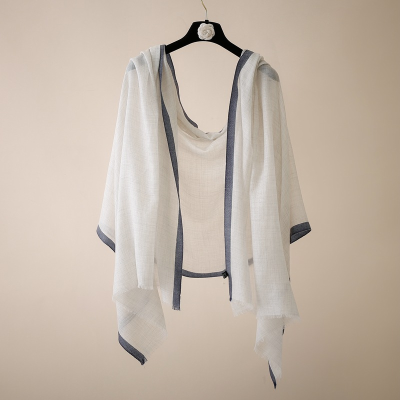 IMF Lady Elite Ivory Oversized 100%Cashmere Shawl And Stoles