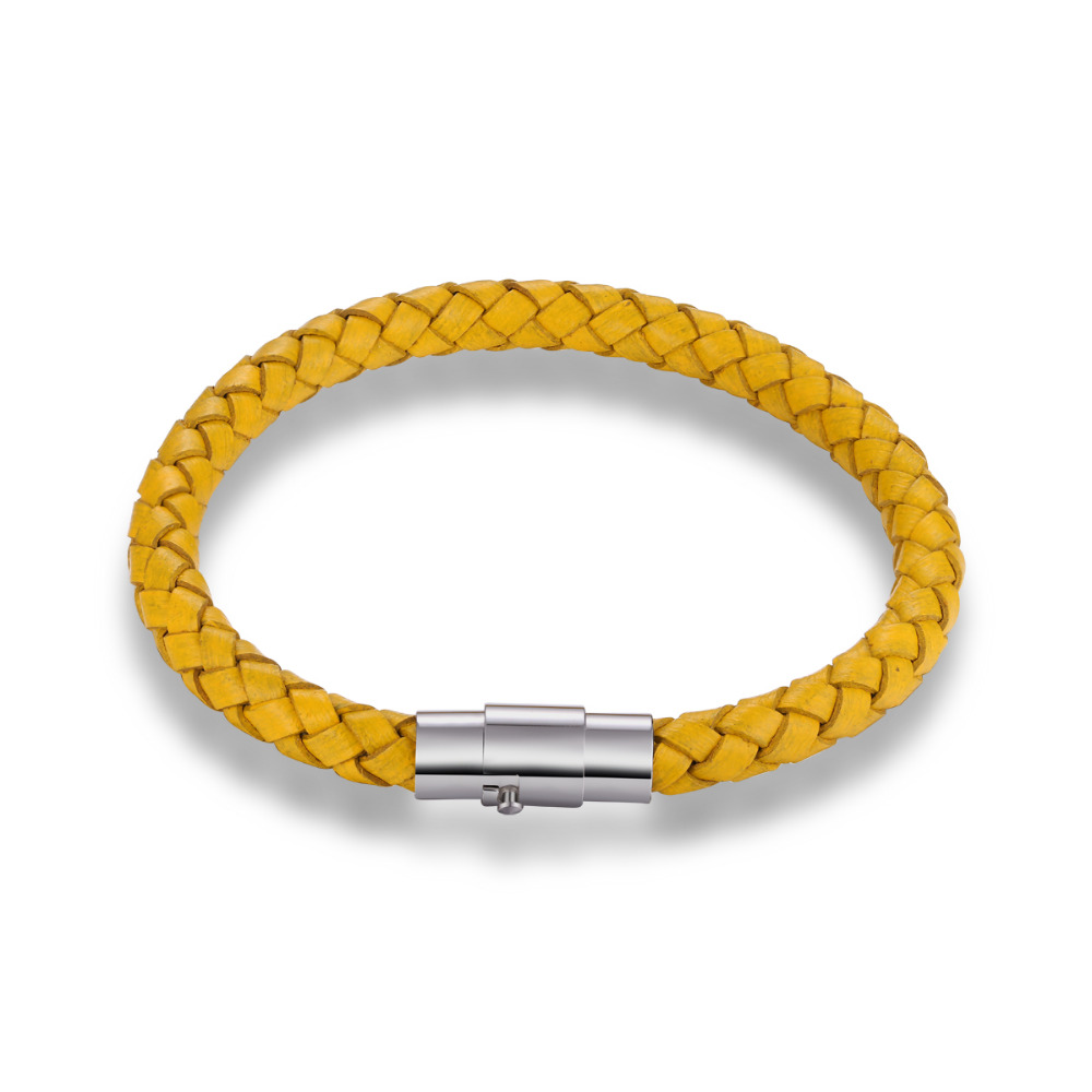 any color available custom design stainless steel main material wax rope bracelet