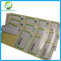 Glossy & smoothy paper printing blank label sticker with company logo printed, company name prited adhesive label sticker
