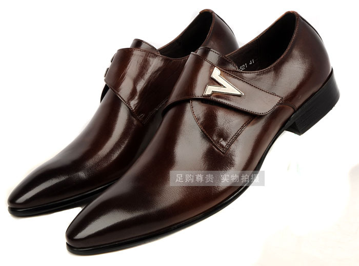 Get Quotations · 2015 mens flats brown tan black buckle mens formal  business shoes genuine leather mens dress 9b6054690454