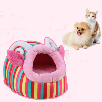 Detachable plush pet bed for both dogs and cats