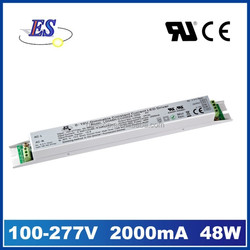 48W 2000mA AC-DC Constant Current LED Driver with 1-10V Dimming