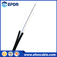 0.5mm FRP strength member singlemode 1 core fiber optic cable with LSZH cubierta