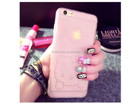 Crystal Clear Scratch Resistant Glossy Transparent Glitter Case , Anti-slip Soft Armor Cover Skin For Iphone 6S