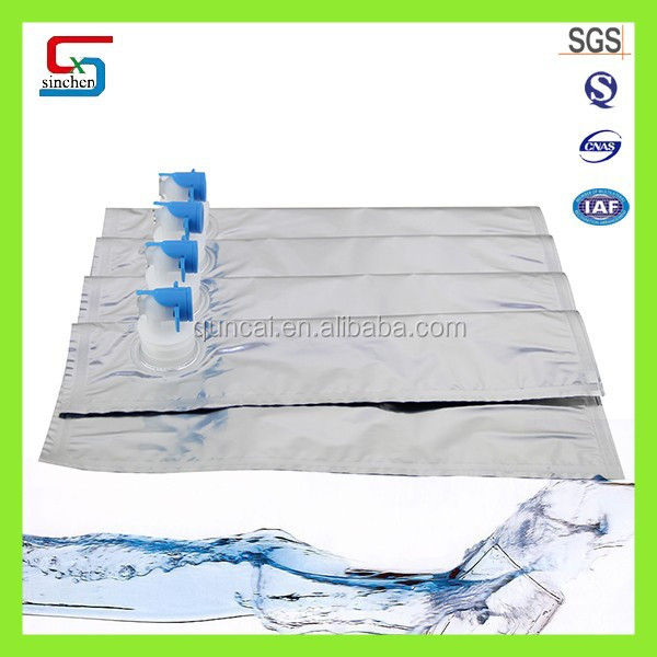 Laminated layer bulk packaging plastic bag for soap and liquid detergent in box pack