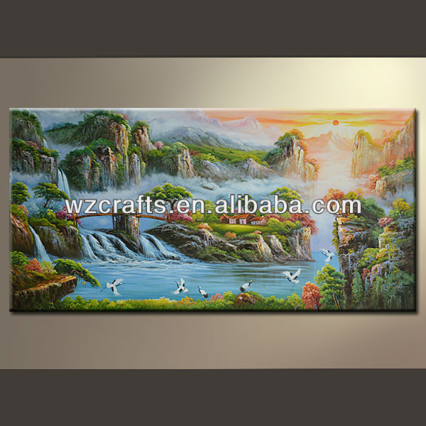 Fantastic Landscape Oil Paint on Canvas for Decoration