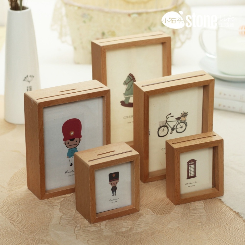High quality new design money box photo frame buy money for Money saving box ideas