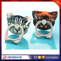 Wholesale price smartphone accessories cute cat grip mobile phone ring holder for iphone 6