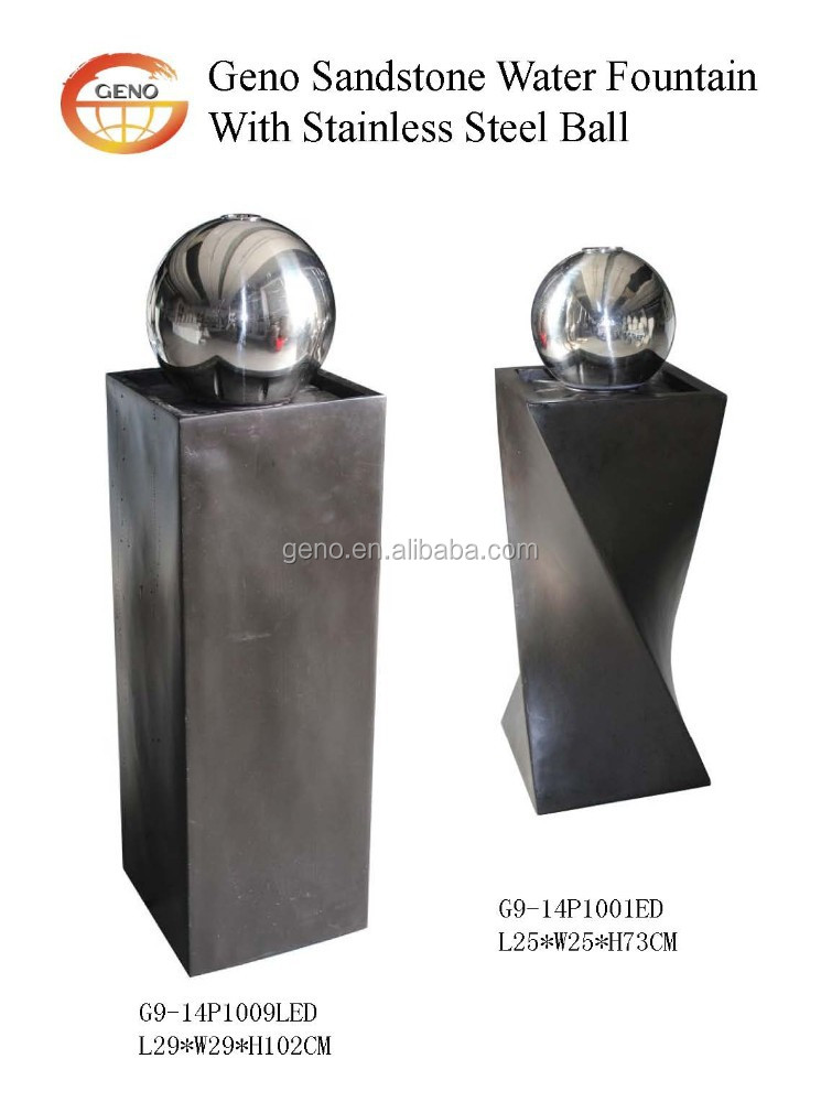 stone rolling ball water feature for home decoration