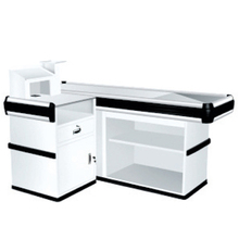 Good quality cashier stand cash register counter/Financial equipment/Half round supermarket checkout counter