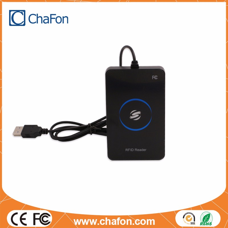 small size lower price multiple format 125khz reader with led and usb interface