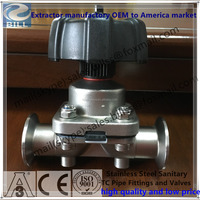 Stainless steel 2 Way Diaphragm valve with PTFE EPDM diaphragm