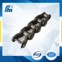WR200 cranked link transmission chains,transmission roller chains/slat top chains for food/leaf chain