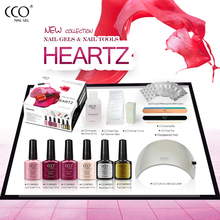 CCO Hot Sale Collection Manicure Pedicure Kit with USB Lamp Professional UV Gel Nail Polish Starter Kit