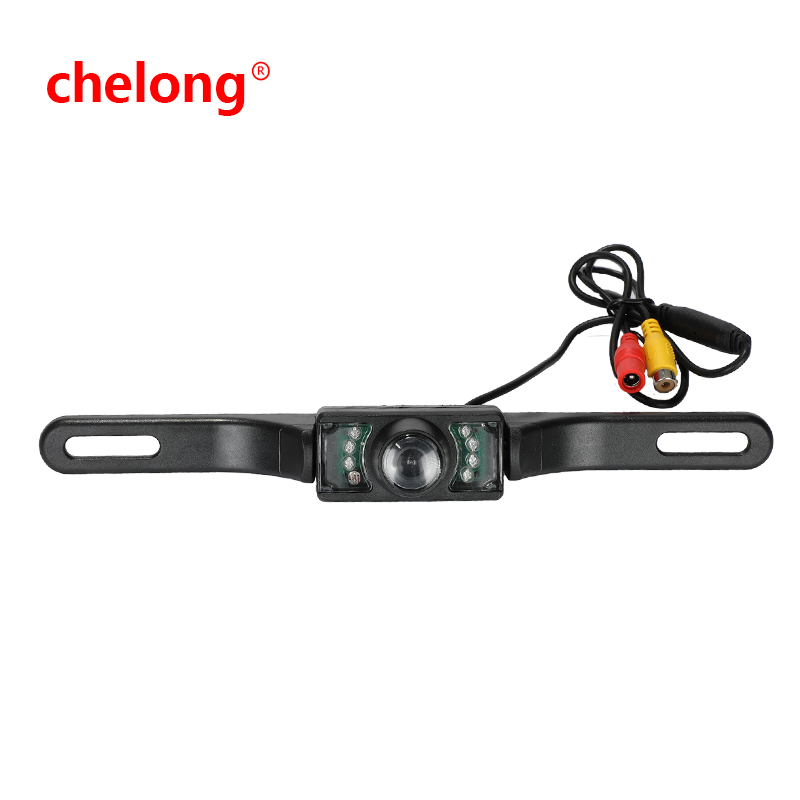 Car Backup Camera 2-in-1 18.5mm Flush Mount Reverse Camera & Bracket Mount HD Color CMOS Auto Rear View Camera Waterproof Front