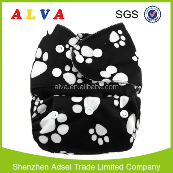Alvababy Minky Washable and Reusable Baby Diaper Eco-friendly Cloth Diapers