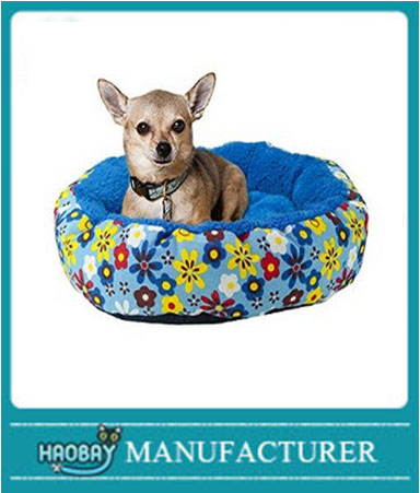 Dog Bed- Comfortable Resting Cushion - Cats - Dogs - Flower Design - Nest Style Bed