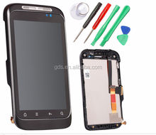For HTC Wildfire s G13 LCD Touch screen combo with frame black and silver