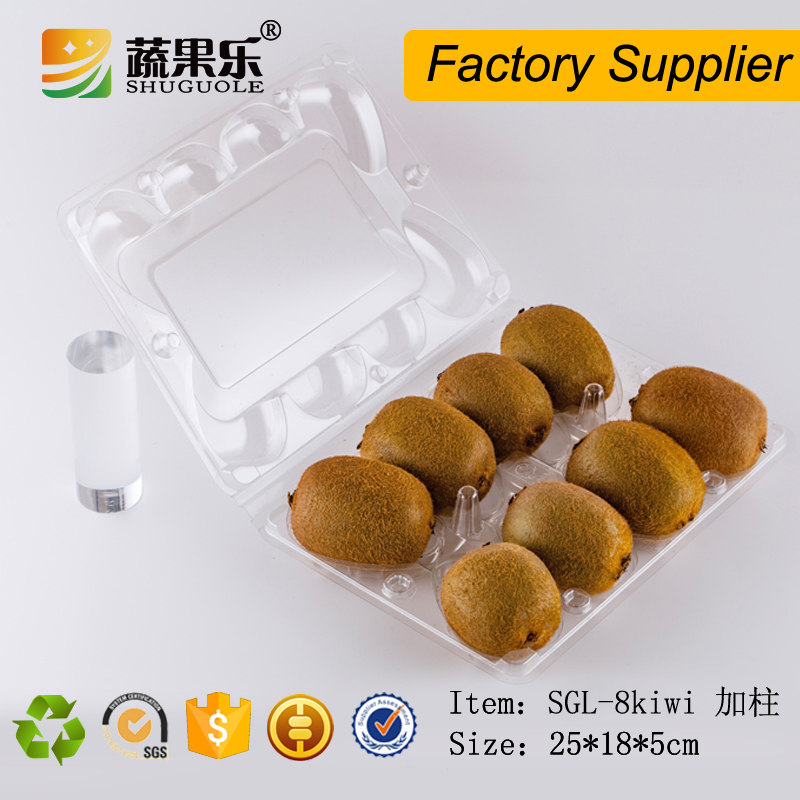 Popular 8 compartment disposable fruit kiwi packing tray