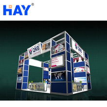 Sturdy Aluminum frame trade show booth 20x20
