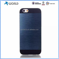 Wire drawing Aluminium Skin & Rubber hard Case Cover for iphone 6, iphone 6 plus, iphone 6S
