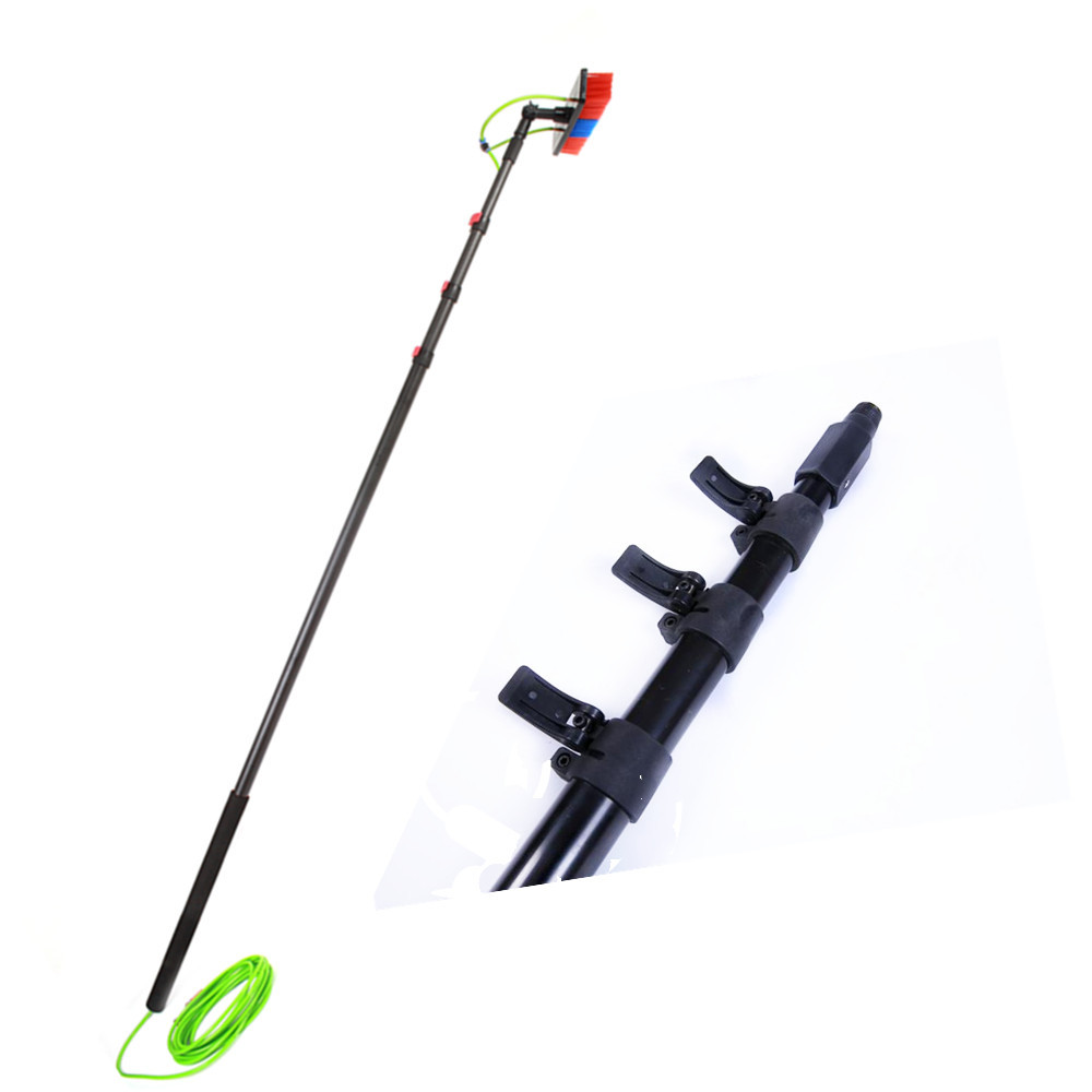 Adjustable Carbon Fiber solar panel cleaning water fed pole