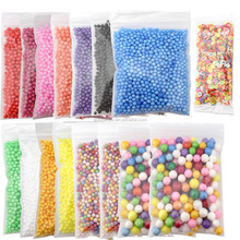 Slime Kit Colored Mini Styrofoam Ball Polystyrene Foam Beads For DIY Creative Craft With Slime Tools And Fruit Slice