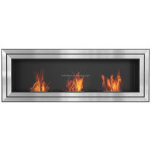 Bio ethanol fireplace wall mounted FD160 with 3pcs stainless steel burners