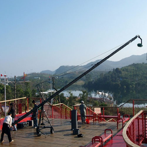 Triangle camera crane,TV triangle giant Jimmy jib cranes for professional video shooting
